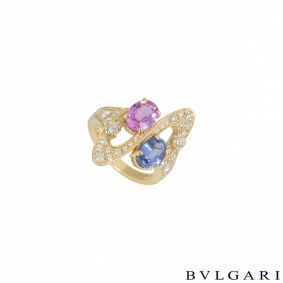 Bvlgari Yellow Gold Diamond & Multi-Gem Ring